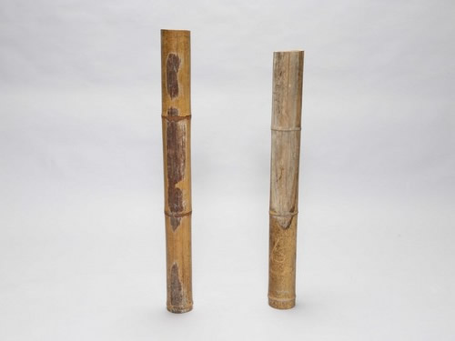 Bamboo with burns of heat rays