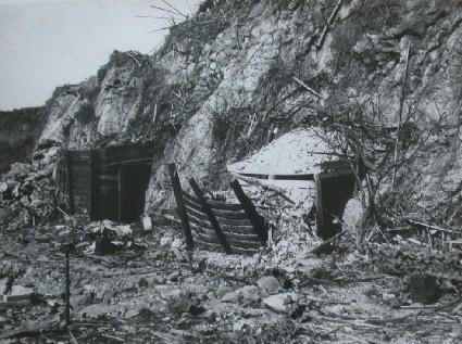 Tunnel style of air raid shelter