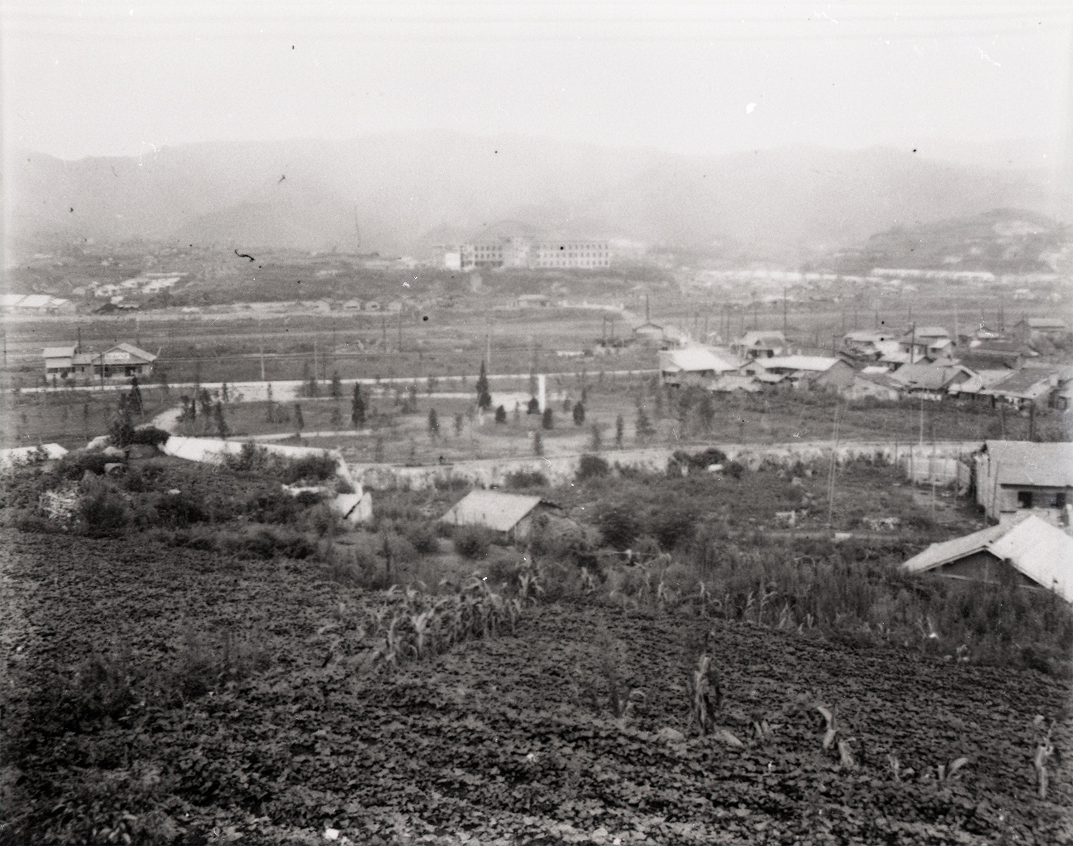 View to the Hypocenter Area from a Hill in Yamazato