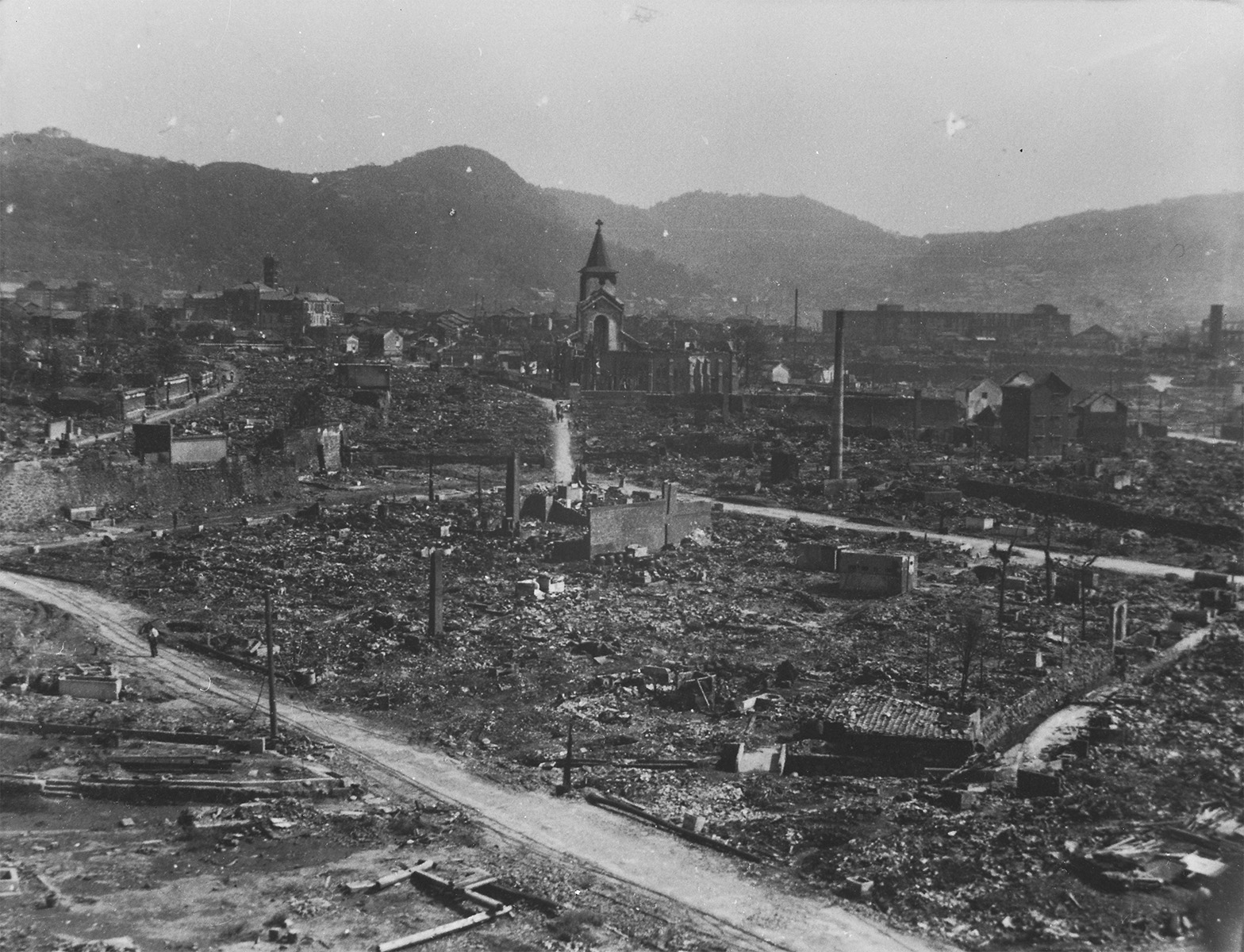 View from NHK Looking toward the Urban Area of Nagasaki ―Nishinaka-machi Catholic Church―