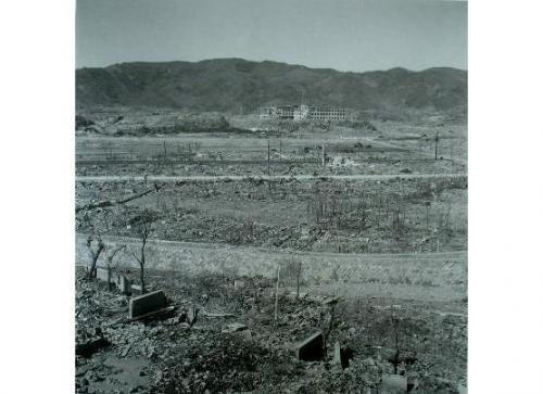 The panorama shot from the hypocenter to the Daiichi Hospital seen from Yamazato hills