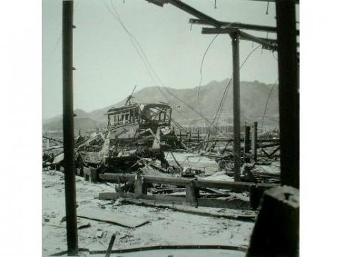 The train destroyed at Ohashi Terminal point